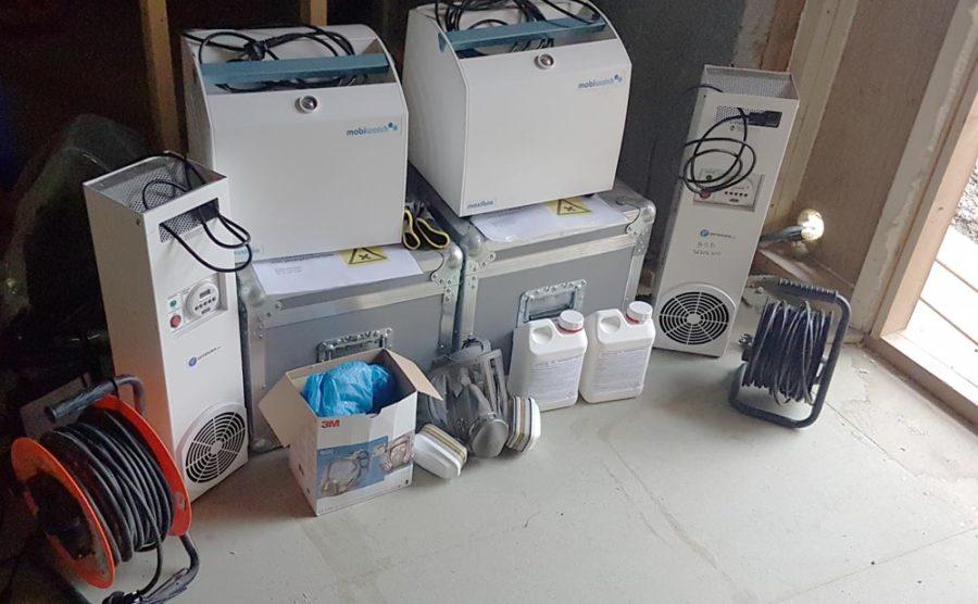 Produkter til luktsanering og desinfeksjon